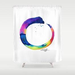 Enso Of Zen No. 16 by Kathy Morton Stanion Shower Curtain