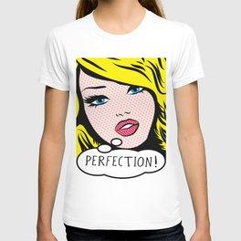 Perfection Pop Art Girl T-shirt