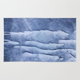 Blue abstract watercolor Rug