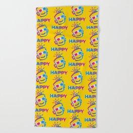 3D HAPPY Beach Towel