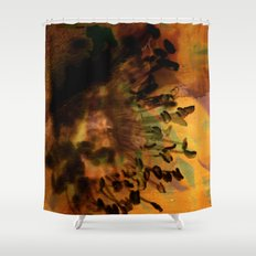 Earth Tones Flower Love Shower Curtain