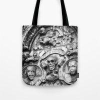 edinburgh Tote Bags featuring Edinburgh Gothic by Mark Nelson