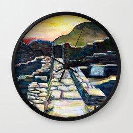 Delos Island, Greece Wall Clock