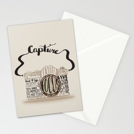 Cute Camera Typography Stationery Cards