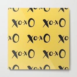 Kisses XOXO Lemon Zest Metal Print