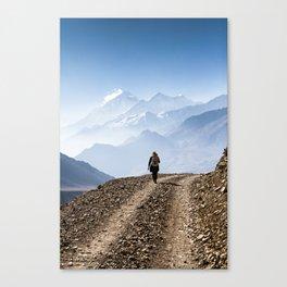 Explore the himalayas. Canvas Print