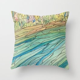 Eno River 23 (top portion) Throw Pillow