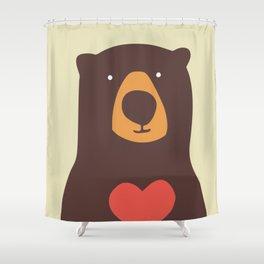 Hearty bear hug Shower Curtain