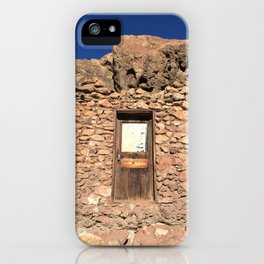 Building at the Ghost Town in Calico, California iPhone Case