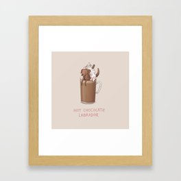 Hot Chocolate Labrador Framed Art Print