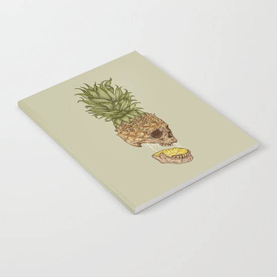 Pineapple Skull Notebook
