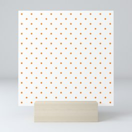 Small Orange Polka Dots Mini Art Print