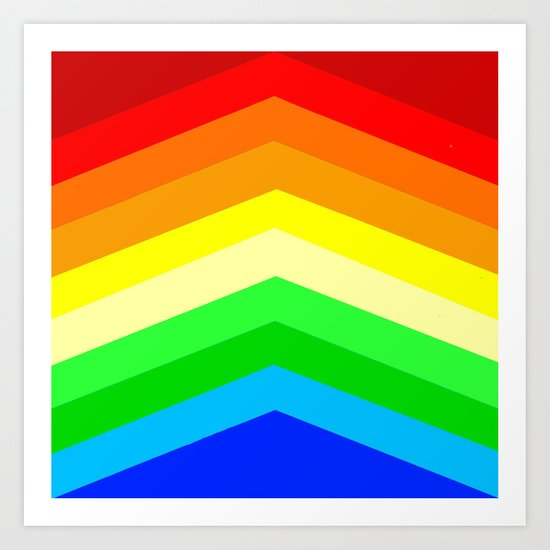 Shades of a Rainbow Art Print