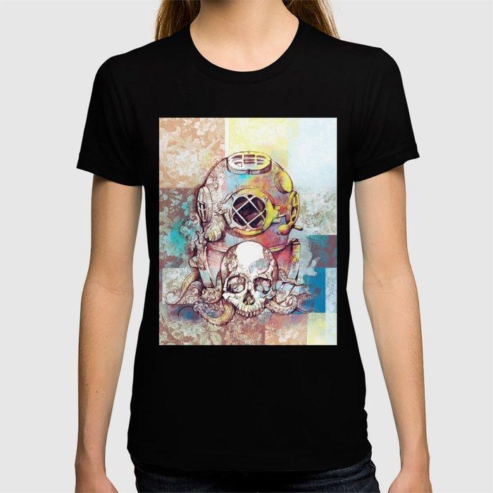 vintage floral skull T-shirt