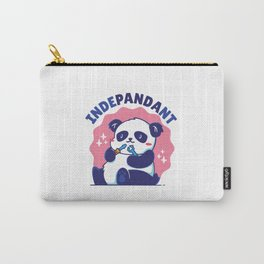 Independent - Cute panda bear playing with tools Carry-All Pouch