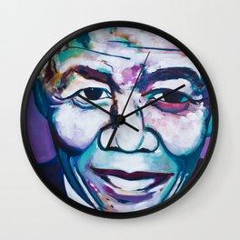 Legend: Nelson Mandela Wall Clock