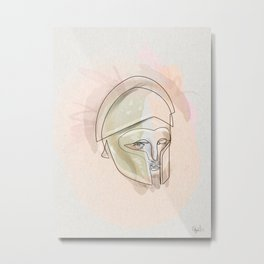 One line Theseus Metal Print