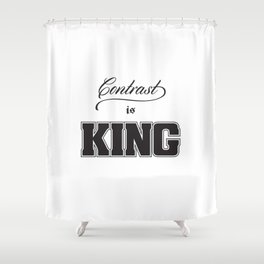 Contrast Is King on White Shower Curtain
