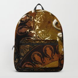 Music, wonderful decorative clef Backpack