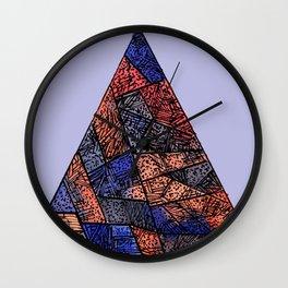 Hipster Pyramid Wall Clock