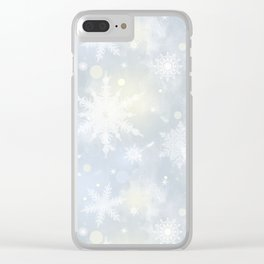 Snowflakes. Clear iPhone Case