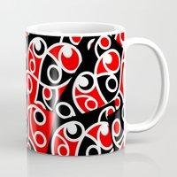 maori Mugs featuring Maori Kowhaiwhai Patchwork Pattern by mailboxdisco