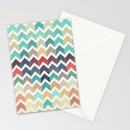 Watercolor Chevron Pattern Stationery Cards