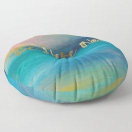 Be Here Now, Ocean Sunrise 4 Floor Pillow