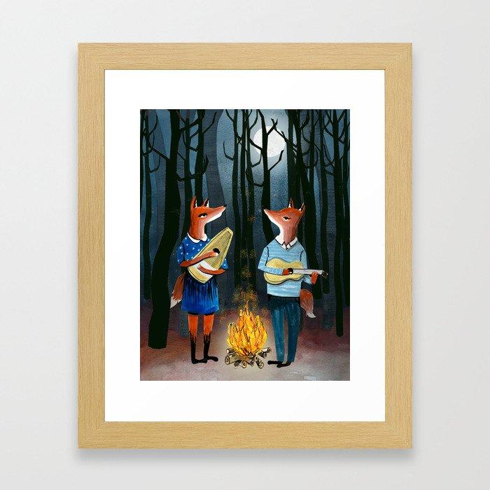 Eine Kleine Foxmusik - Fox Duet Framed Art Print