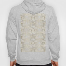 Gold and white geometric Art Deco pattern Hoody