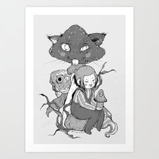 mush cat Art Print