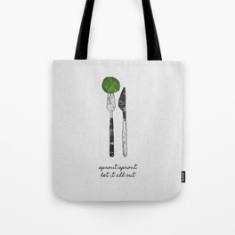 Sprout Sprout, Vegan, Vegetarian Tote Bag