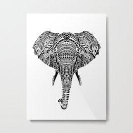 Polynesian Elephant Metal Print