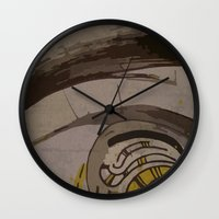 reassurance Wall Clocks featuring Abstraction INC II by Magdalena Hristova