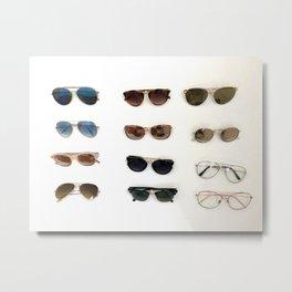 Got them shades on Metal Print