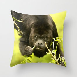 Howler monkey Throw Pillow