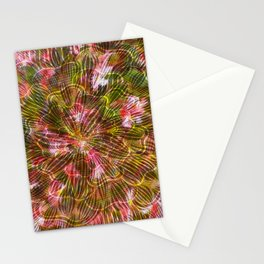 Abstract Flowers and Leaves Stationery Cards