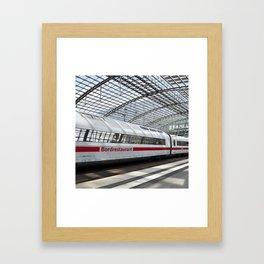 White Train - Berlin Framed Art Print