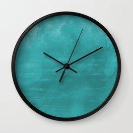 Aqua Teal Turquoise Burst of Color Abstract Watercolor Blend - Aquarium SW 6767 Wall Clock