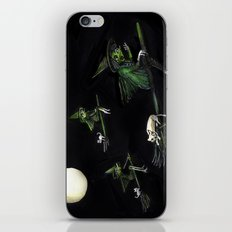 Three Witches on Brooms with the Moon.  iPhone & iPod Skin