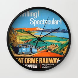 Vintage poster - Great Orme Railway Wall Clock