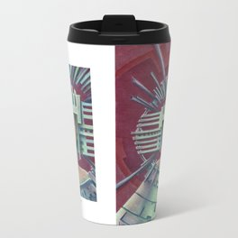 """""""Portrait with silver chullo"""" Notebook Metal Travel Mug"""