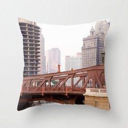 Chicago River Throw Pillow