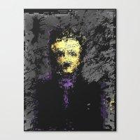 edgar allan poe Canvas Prints featuring Edgar Allan Poe by brett66