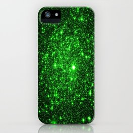 gAlAXy Green Sparkle Stars iPhone Case