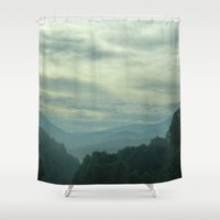 north carolina Shower Curtains featuring Carolina by Chuck Buckner
