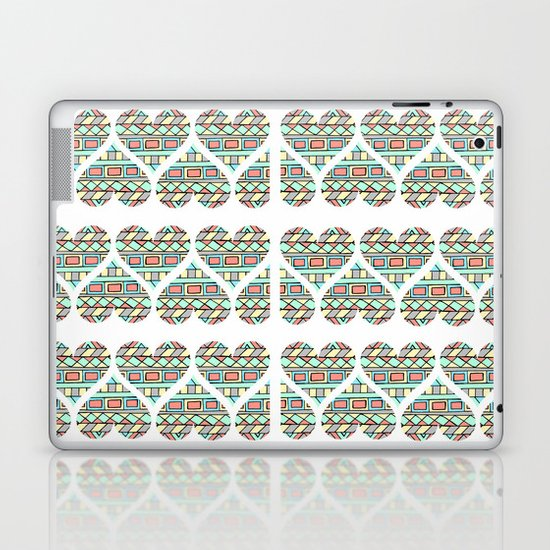 Aztec hearts Laptop & iPad Skin