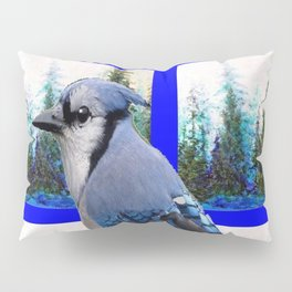 MOUNTAIN BLUE JAY SCENIC ART Pillow Sham