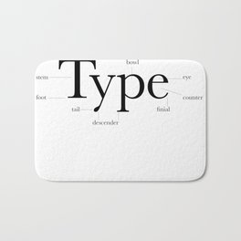 Anatomy of Type Bath Mat
