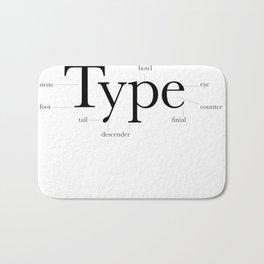 Anatomy of Type Bath Mat